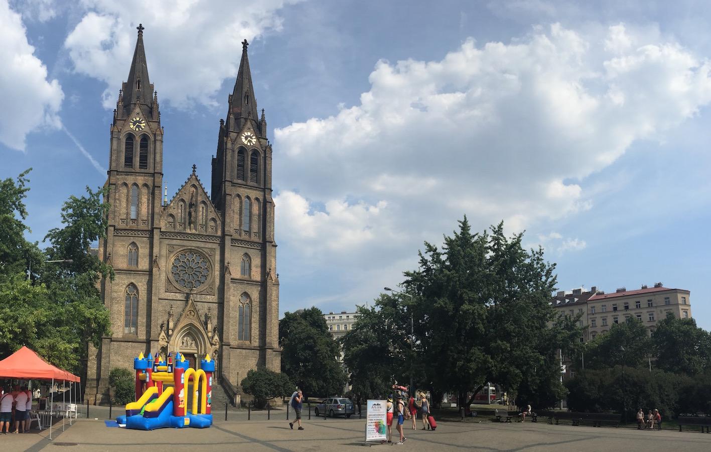 Church of St. Ludmila at Náměstí Míru (Peace Square)